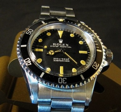 Vintage Rolex Submariner 5513 For Sale - Metres First 1968