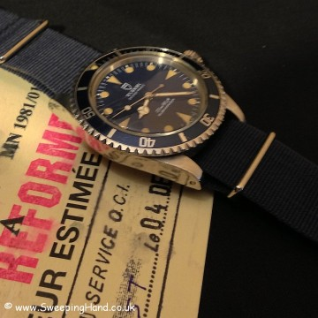 Tudor Submariner Marine Nationale For Sale 1981 - Rare Triangle Dial