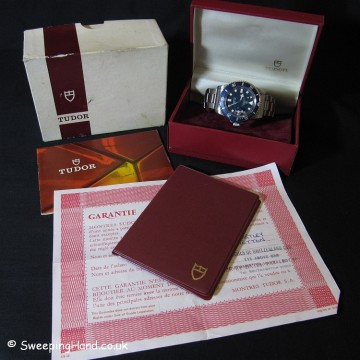 Tudor Snowflake Submariner 94110 For Sale - Full Box & Papers 1980