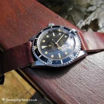 Rolex 5513 Submariner 'Tropical' Gilt Dial For Sale - 1965