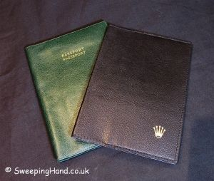 Win a Genuine Rolex Leather Wallet / Passport Holder!