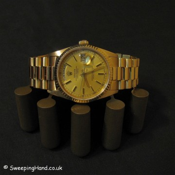 18ct Solid Gold Rolex Day-Date President 18238 from 1990