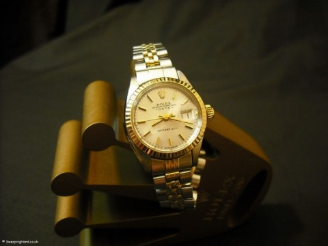 Ladies Rolex Bi-Metal Gold Date Watch - Very Rare Tiffany Dial from 1973/1974