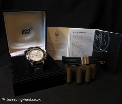 Montblanc Sports Chronograph Meisterstuck Watch - Box & Papers - Excellent Condition