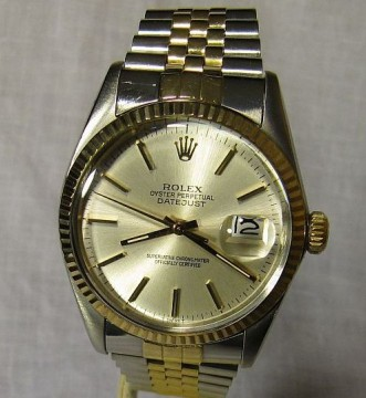 Rolex 18k Gold Bi-Metal Datejust For Sale -  Full Box & Punched Papers