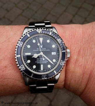 Beautiful Grey Rolex 1665 'Rail Dial' Sea-Dweller