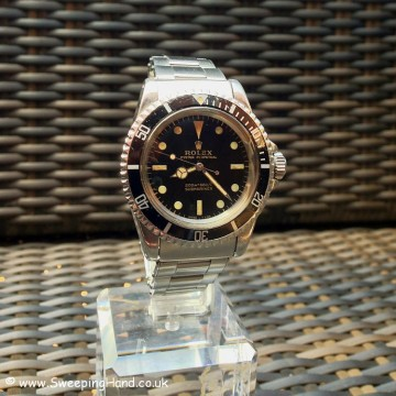 1966 Rolex 5513 Submariner Gilt Dial For Sale - Fat Case!