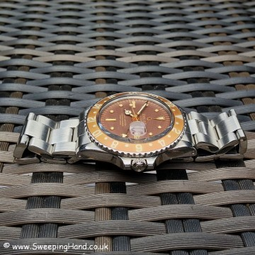 Rolex 1675 GMT Master 1970 For Sale - Tropical Look Nipple Dial!