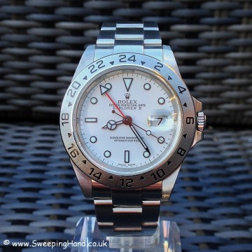 Rolex Explorer II 16570 White Dial For Sale - Mint Full Collector Set