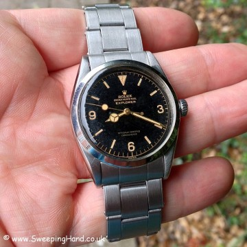 Very Early 1956 Rolex Explorer 6610 Gilt Dial For Sale