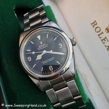 Superb 1962 / 1963 Rolex 1016 Gilt Chapter Ring Exclamation Dial Explorer - Full Collector Set