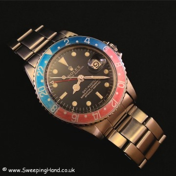 Stunning 1966 Rolex 1675 Gilt Dial GMT Master - Original Box and Papers