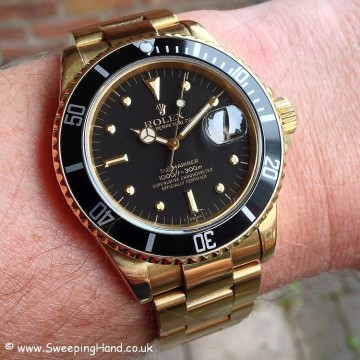 Gold Rolex Submariner 'Nipple Dial' For Sale - Box and Punched Papers Collector Set