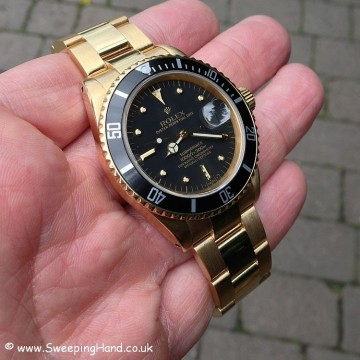 Gold Rolex 1680 Nipple Dial Submariner 007
