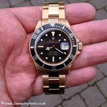 Gold Rolex 1680 Nipple Dial Submariner 008