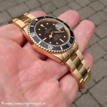 Gold Rolex 1680 Nipple Dial Submariner 009