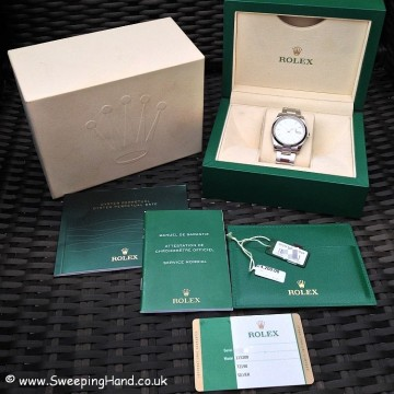 2015 Rolex Oyster Perpetual Date 115200 with 29 Month Rolex International Warranty!