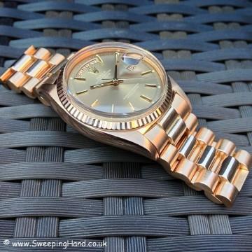 Rolex 1803 Rose Gold DayDate B&P 019