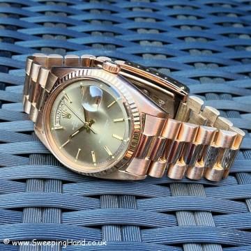 Rolex 1803 Rose Gold DayDate B&P 020