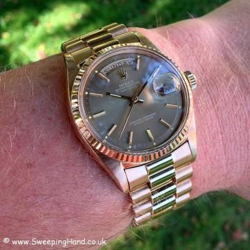 Rolex 1803 Rose Gold DayDate B&P 028