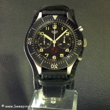 Heuer Bundeswehr 1550SG Flyback German Military Watch