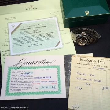 Stunning One Owner 1970 Rolex Metres First Red Submariner 1680 Collector Set