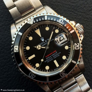 Rolex 1680 Red Submariner Meters First 002