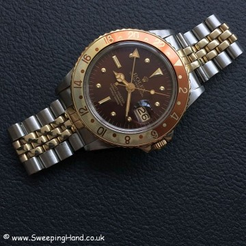 Stunning 1979 Rolex 1675 GMT Master Root Beer 'Nipple Dial'