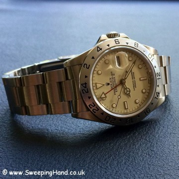 Super Rare Rolex Explorer II Cream Rail Dial Collector Set