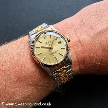 1987 Rolex 16013 Bi-Metal 18k Gold Datejust