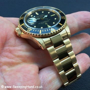 18k Gold Rolex Submariner 'Nipple Dial' Full Collector Set & Rolex Warranty