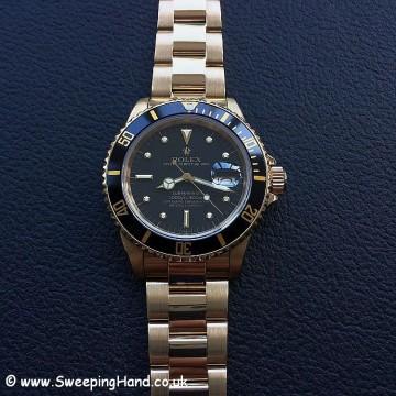Rolex 18k Gold Submariner 16808 - 3