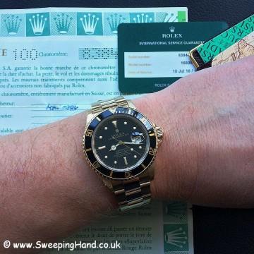 Rolex 18k Gold Submariner 16808 - 5