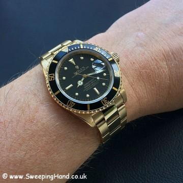 Rolex 18k Gold Submariner 16808 - 6