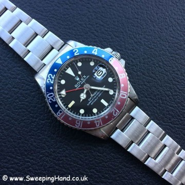 Amazing Unpolished Mk1 1969/1970 Rolex GMT Master 1675