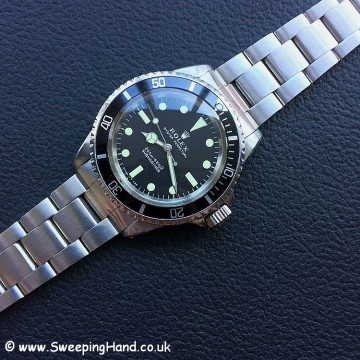 1969 Rolex 5513 Meters First Submariner