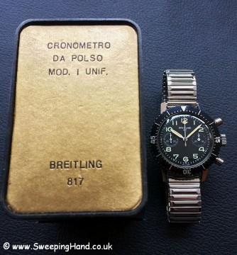 Rare Breitling 817 Italian Military Issued CP-1 Esercito Italiano