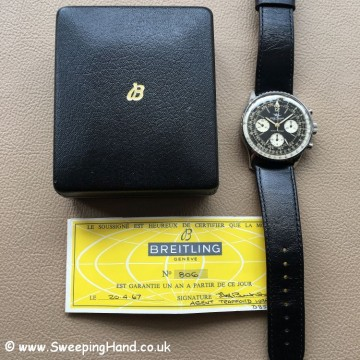 Superb 1967 Breitling Navitimer 806 Box & Papers
