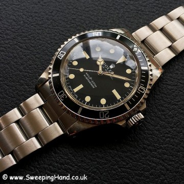 Unpolished Rolex 5513 Submariner Serif Dial