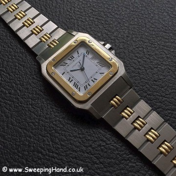 Gents Bi-Metal Gold & Steel Automatic Cartier Santos