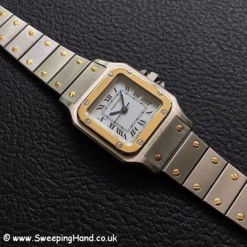 Ladies Bi-Metal Gold & Steel Automatic Cartier Santos
