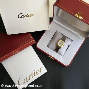 Ladies Bi-Metal Gold & Steel Automatic Cartier Santos