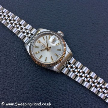 Ladies Rolex Datejust 69174 in Steel & White Gold