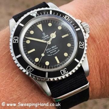 1966 Tudor 7928 Submariner - wristshot