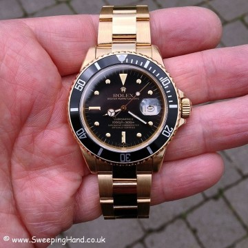 Gold Rolex 1680 Nipple Dial Submariner 008