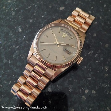 Rolex 1803 Rose Gold DayDate B&P 017