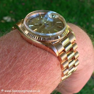 Rolex 1803 Rose Gold DayDate B&P 031