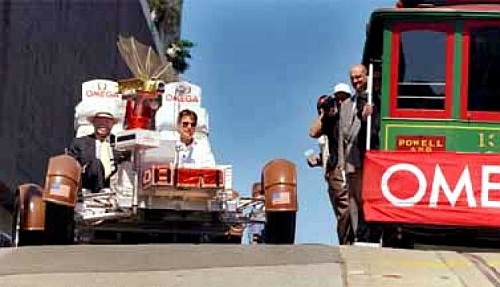 Mayor Willie Brown Omega Lunar Rover race