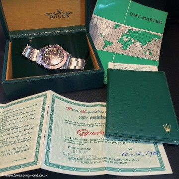 Rolex 1675 Gilt Dial Tropical 001