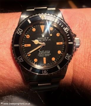 Rolex 5512 Pumpkin Dial Wristshot